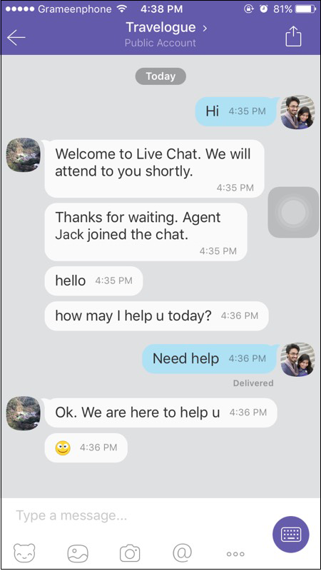 how customer will chat
