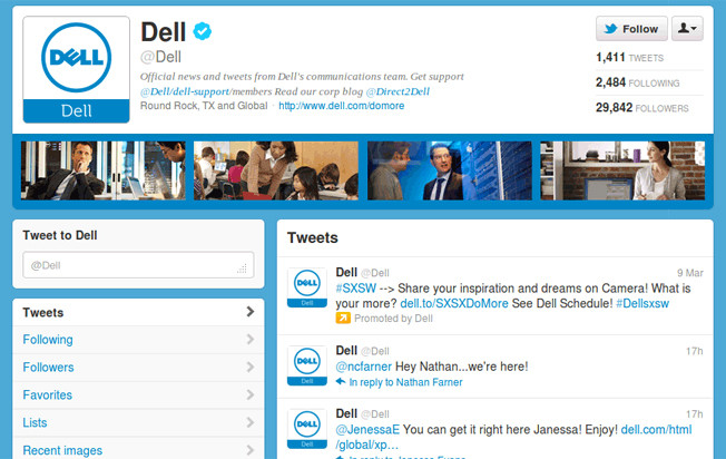 Dell-Twitter-account