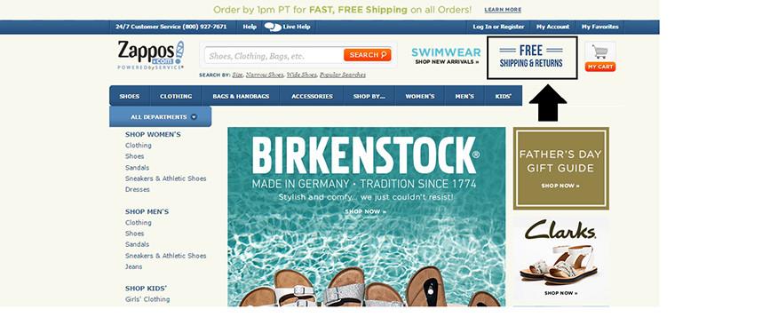 zappos-online-shopping-portal