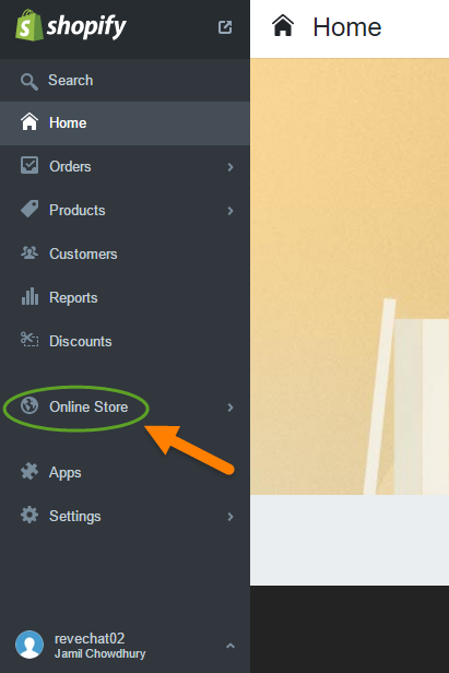 REVE Chat Integration with Shopify: Step 1