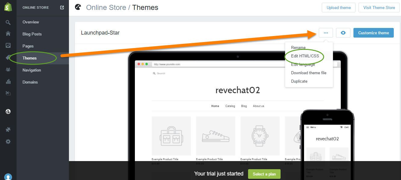 REVE Chat Integration with Shopify: Step 3