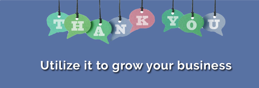 usage of thank you page