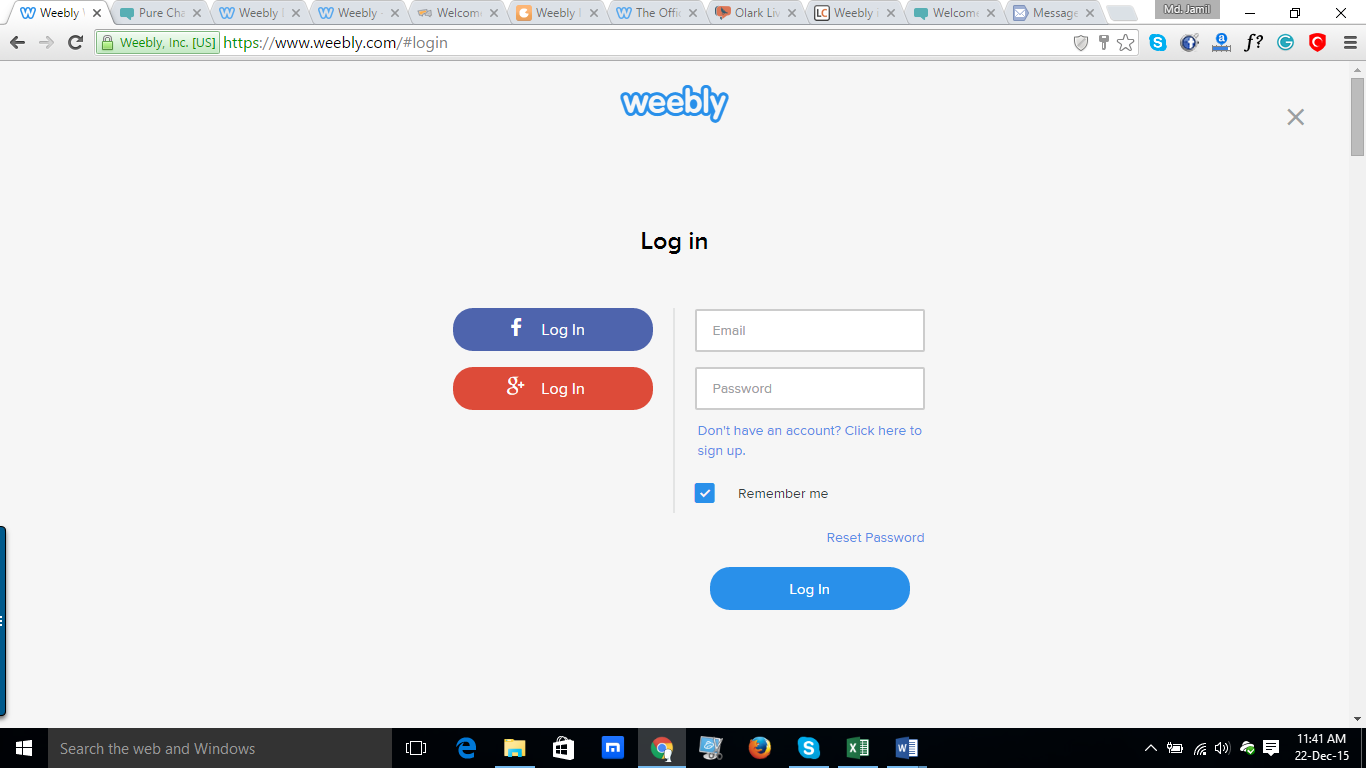REVE Chat Integration with Weebly: Step 1