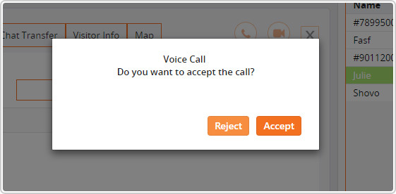 accept voice call