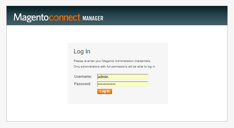 magento-connect-manager-login