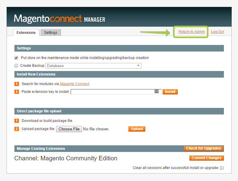 magento-return-to-admin-panel