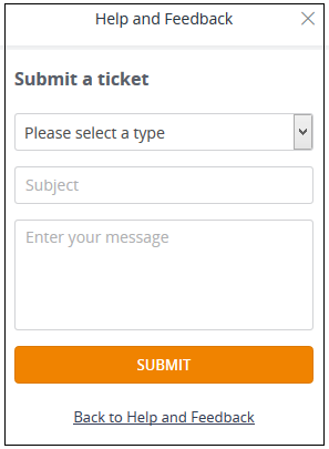 Submit a Ticket section