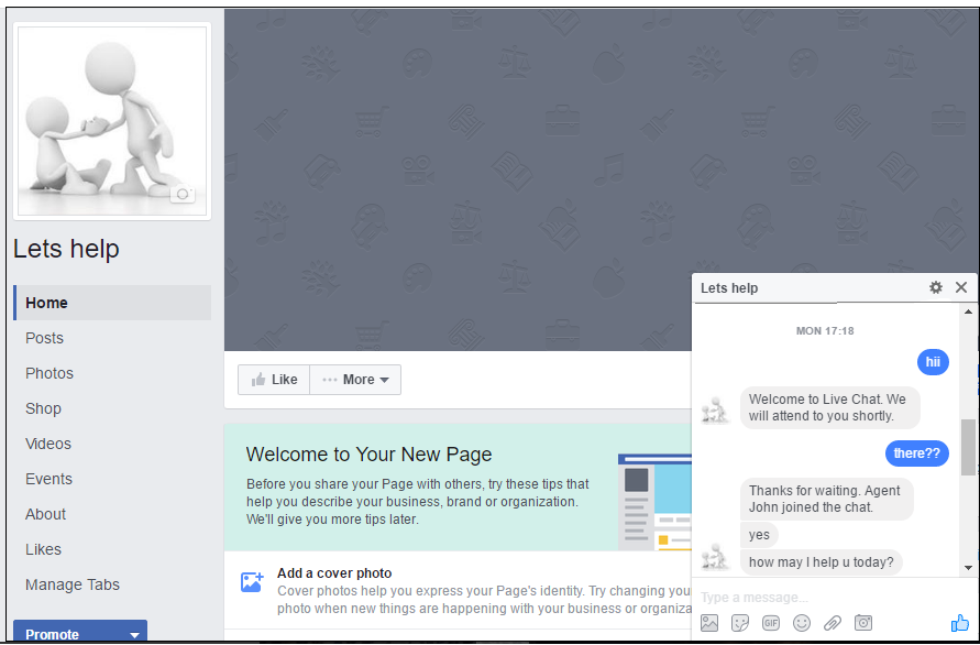 Reve Chat Integration with Facebook: Step 4