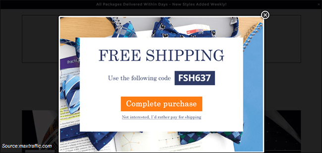 popups-to-display-free-shipping