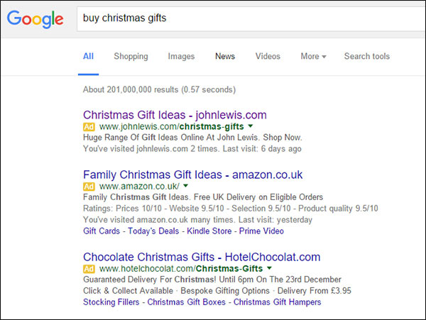 example-ppc-campaign-during-christmas