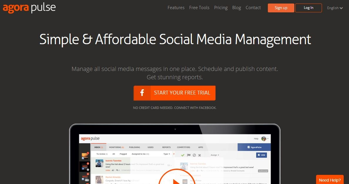 Agora Pulse- Social Media Management Tool