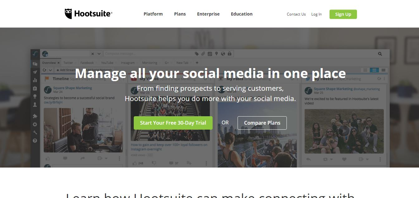Hootsuite- Social Media Management Tool