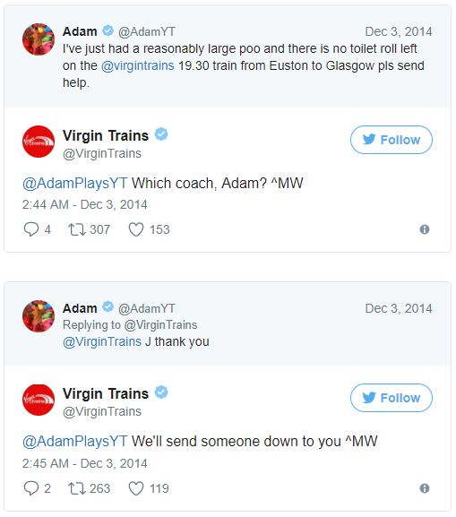 Virgin Trains- Customer Service Example