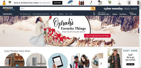 Amazon Website Christmas Marketing Campaign