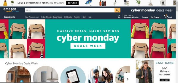 Amazon Website Cyber Week Deal