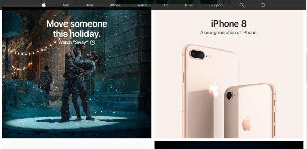 Apple Website Screenshot