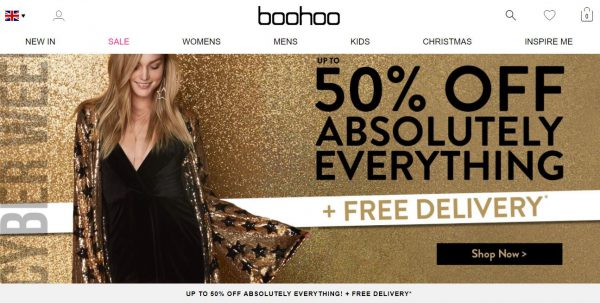 Boohoo Cyber Week Sale