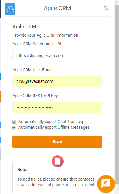 Agile CRM Live Chat Integration-step-6