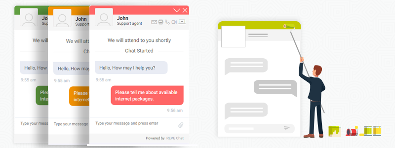 One of the features for being called the best live chat software is having customization option