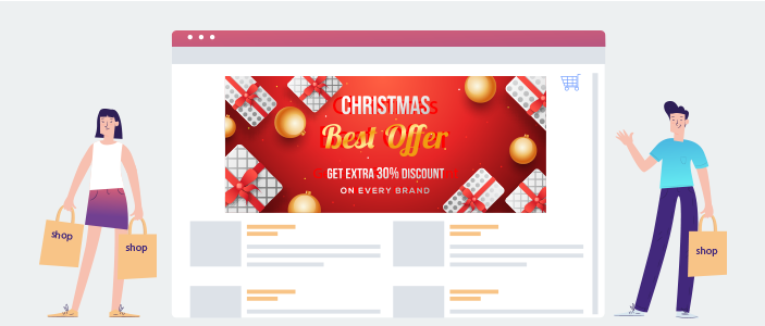 festive makeover to landing page
