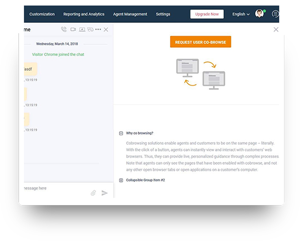 live support chat software with department management