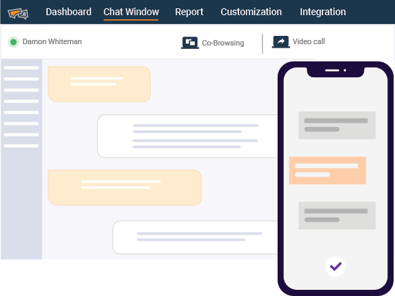Manage your conversations across web and mobile