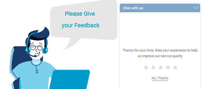 Live chat as feedback channel