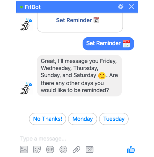 Fitness bots - chatbot trends