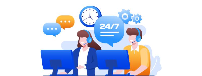 24x7 customer support