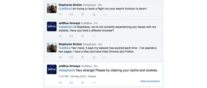 jet-blue-airways-social media customer service